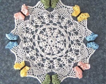 Spring Butterfly Doily Pattern PDF - INSTANT DOWNLOAD.