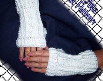 Shana Mitts Fingerless Glove Crochet Pattern PDF - INSTANT DOWNLOAD.