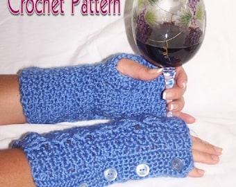 Jeanie Mitts Fingerless Mitten Crochet Pattern PDF - INSTANT DOWNLOAD.