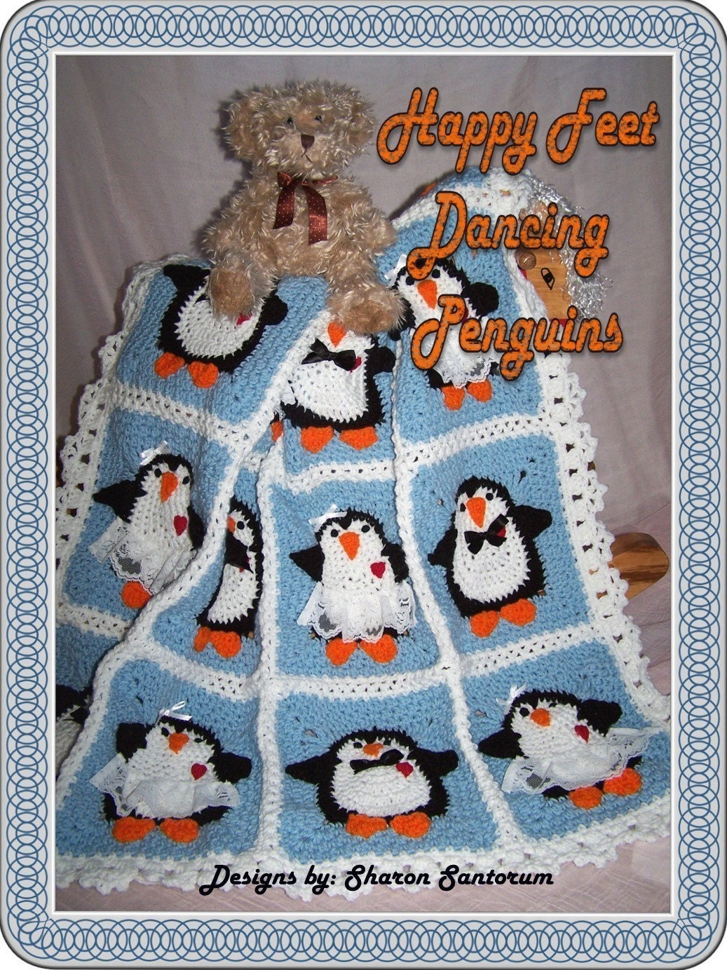 Free Crochet Pattern Penguin Afghan : Dancing Penguins Crochet Baby Afghan or Blanket by ...