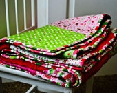 Riley Blake Christmas Quilt with Minky