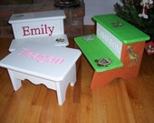 Childrens STEP STOOL with a personal touch.
