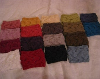 Cup Cozy, Cable knit Coffee cup Cozy,Tea sleeve, SALE// Buy 4 cotton acrylic mix cozy's get 5th one //FREE//