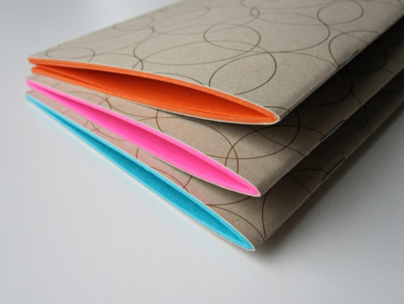 Moleskin Notebooks Journals in Orange Pink and Blue (set of 3)
