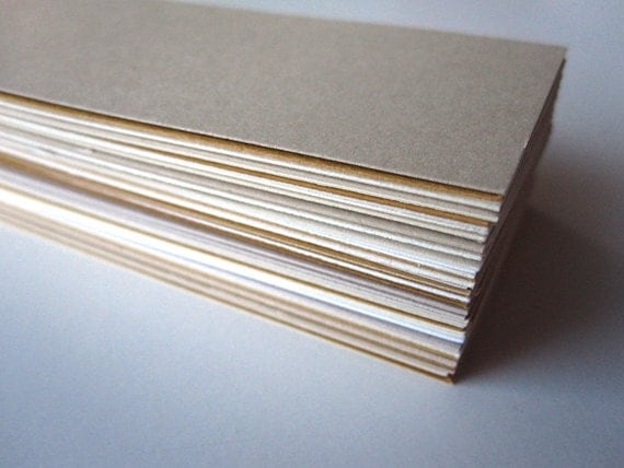 Blank Mini Cards / Business Cards / Gift Tags in assorted colors (60 count)