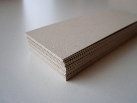 Blank Tan Mini Cards / Business Cards / Gift Tags (60 Count)