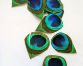 Natural color Trimmed Peacock Feather Eyes (6 Piece, 2 size option) DIY supplies for millinery,wedding invitations,hair fascinator,earrings