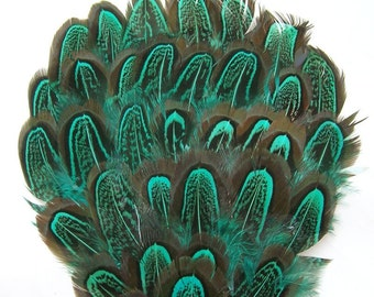 EMERALD GREEN Almond Amherst Feather Pad Applique (1 piece) millinery, masks,costumes,hats,headdresses,headband,hairclips (1 Appliqué)