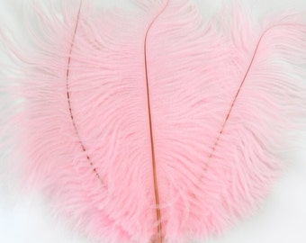BALLERINA PINK Ostrich Feather Drab (6-8 inches, 3 package option) feather for hat,fascinator,hat,corset,dresses,bouquets, costume,fans
