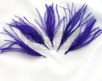 ROYAL PURPLE Ostrich Feather Sprays. Cruelty free DIY feathers for hair fascinators, boutonnieres and millinery (5 Sprays)