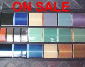 ON SALE Vintage Tile Circa 1920s American Encaustic Tiling Company Store Sampler 20 Ceramic Tiles