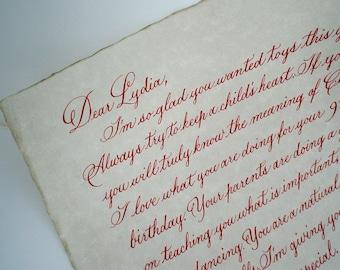 Wedding invitation addressing calligraphy deposit