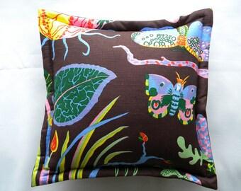 "Genuine Josef Frank ""Hawaii"" textile silkscreened linen fabric authentic Swedish 17"" throw pillow Svenskt Tenn hard to find"