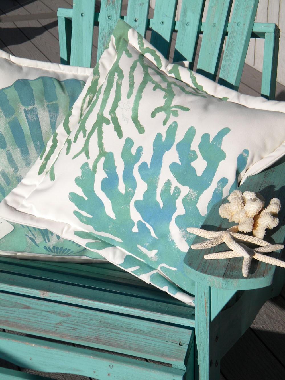 Estremamente All'aperto cuscino due coralli 2050cm dipinto di ET63