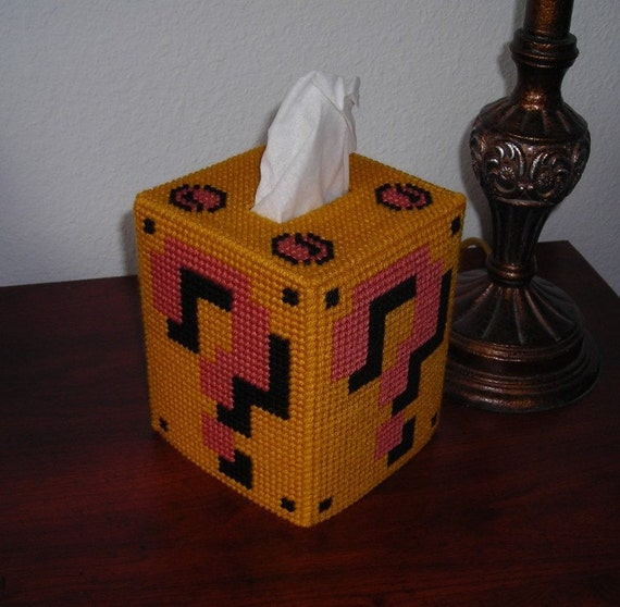 Mario Question Block tissue topper