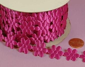 3/4 Flower Charm Ribbon - Pink