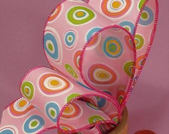 1.5 Circles Ribbon - Pink