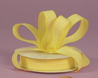 3/8 Mini Gingham - Yellow