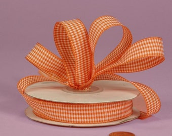 3/8 Mini Gingham - Orange