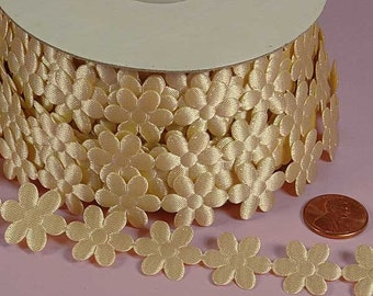 3/4 Flower Charm Ribbon - Ivory