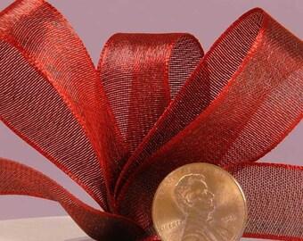 5/8 Red Iridescent Satin Ribbon