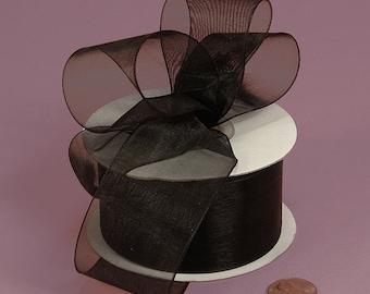 7/8 Sheer Ribbon - Black