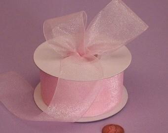 7/8 Sheer Ribbon - Light Pink