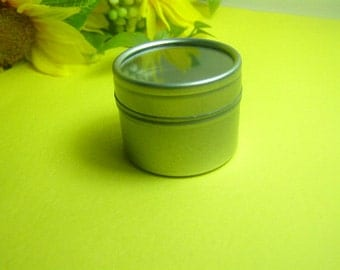 Small 1oz Steel Tin Can with Window Lid