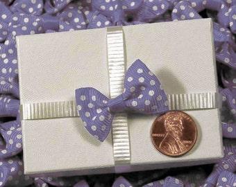 10 - Lavender PolkaDot Bows