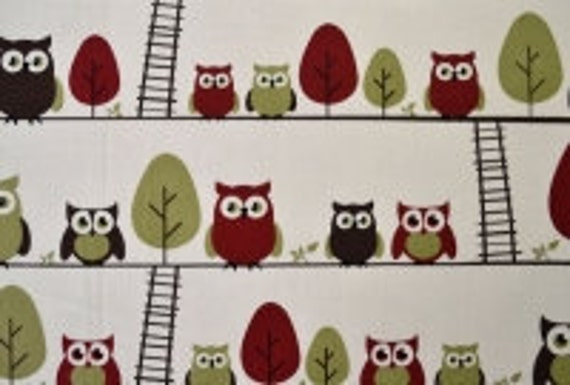 Owls and Ladders Fabric by Twomonkeys