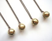 Vintage Ball Locket, Sphere Locket, FOUR (4) necklaces, Classic Locket, Bridesmaids Gifts Set, Vintage Wedding
