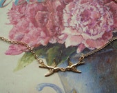 Kissing Birds Necklace, Delicate Gold Necklace