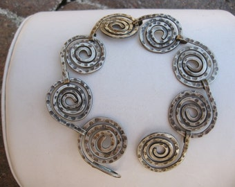 Sterling Silver Oxidized Hand Forged Bracelet