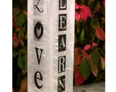 Letter Art LIVE LAUGH LOVE and Learn Candle Holder
