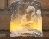 Wedding Candles (short cylinder) Personalized by Spell It Out