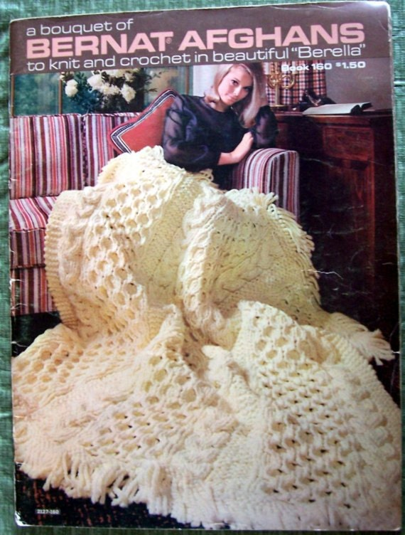 Bernat Afghans to Knit and Crochet Book 160
