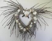 Seashell Heart Wreath For Beach Decor and Coastal Beach Theme