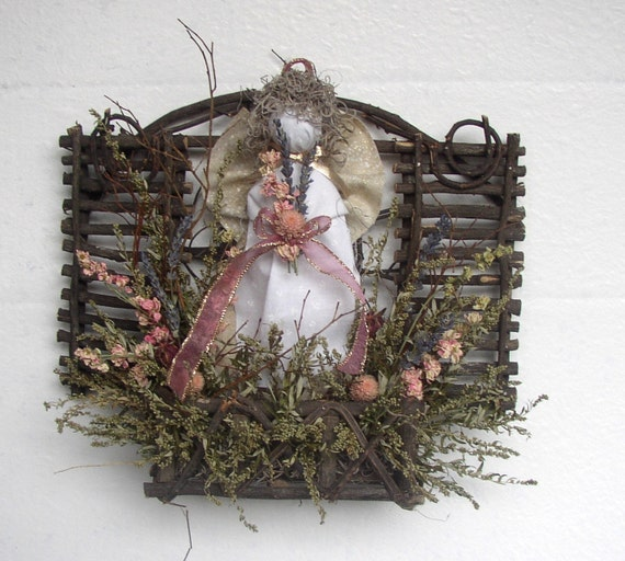 Angel Garden Trellis Dried Flowers in Soft Shades of Pink - Price includes US postage