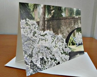 Bridge at Manito Park - Blank Note Cards