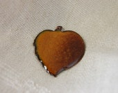Autumn Leaf - Enameled Leaf Pendant for your projects