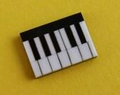 SALE Black And White Onyx Piano Keyboard Cabochon