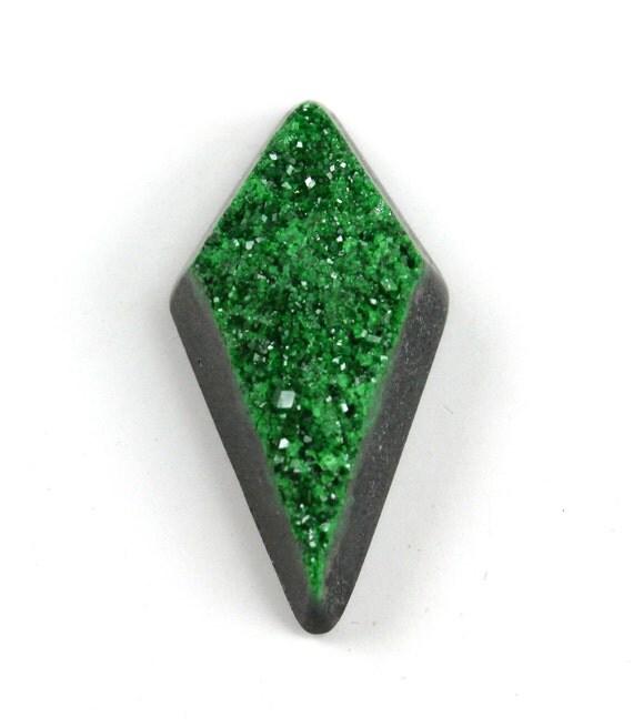 Uvarovite Druzy Cabochon Modified Diamond Shape