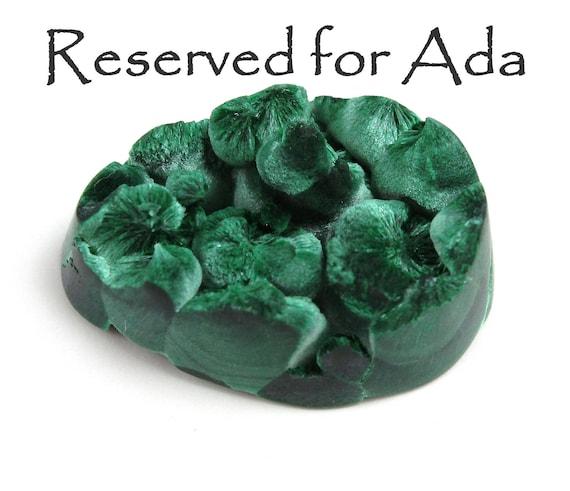 Reserved For Ada     Silky Fibrous Malachite specimen Cut Cabochon
