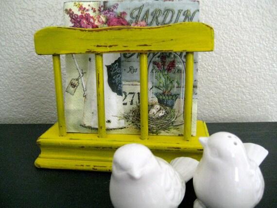 Napkin Holder - Farmhouse Yellow - Country Kitchen