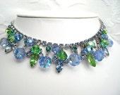 RESERVED Vintage JULIANA Rhinestone Beaded Necklace