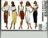 FINAL CLOSING SALE Butterick 6716 Straight Skirt Patterns Size 12 14 16 Waist 26 1/2 to 30 Wiggle Pencil