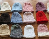 Organic Cotton ecofriendly Baby Hats (0-3 months) 2 for 18 dollars