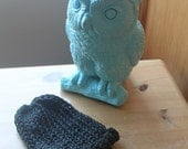 Hand Knit Organic Cotton Hat - Babies - 0-3 months - Inky Black