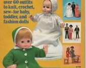 McCalls Fashion Doll Clothes Magazine 1970s Pattern Book Knit Crochet