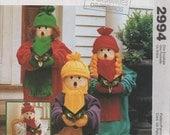 "Christmas Caroler Doll Sewing pattern 24"" Caroler Decoration Doll"